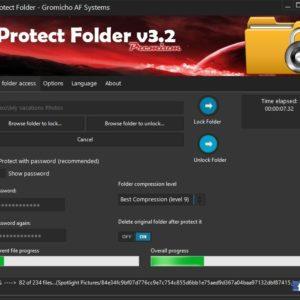 Protect Folder v3.2 main window