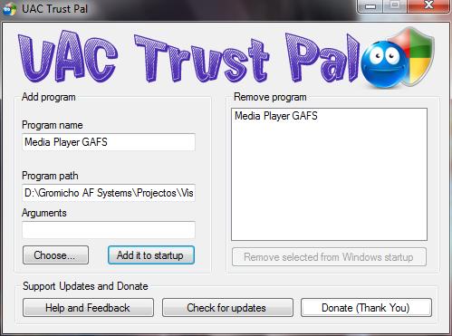 UAC Trust Pal